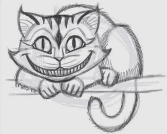 Easy Drawing Of Chesire Cat Alice In Wonderland Game