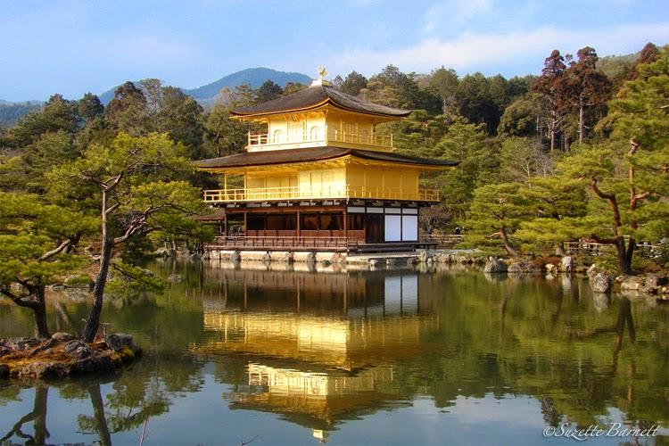 Golden Temple Kyoto Kinkakuji on the pond