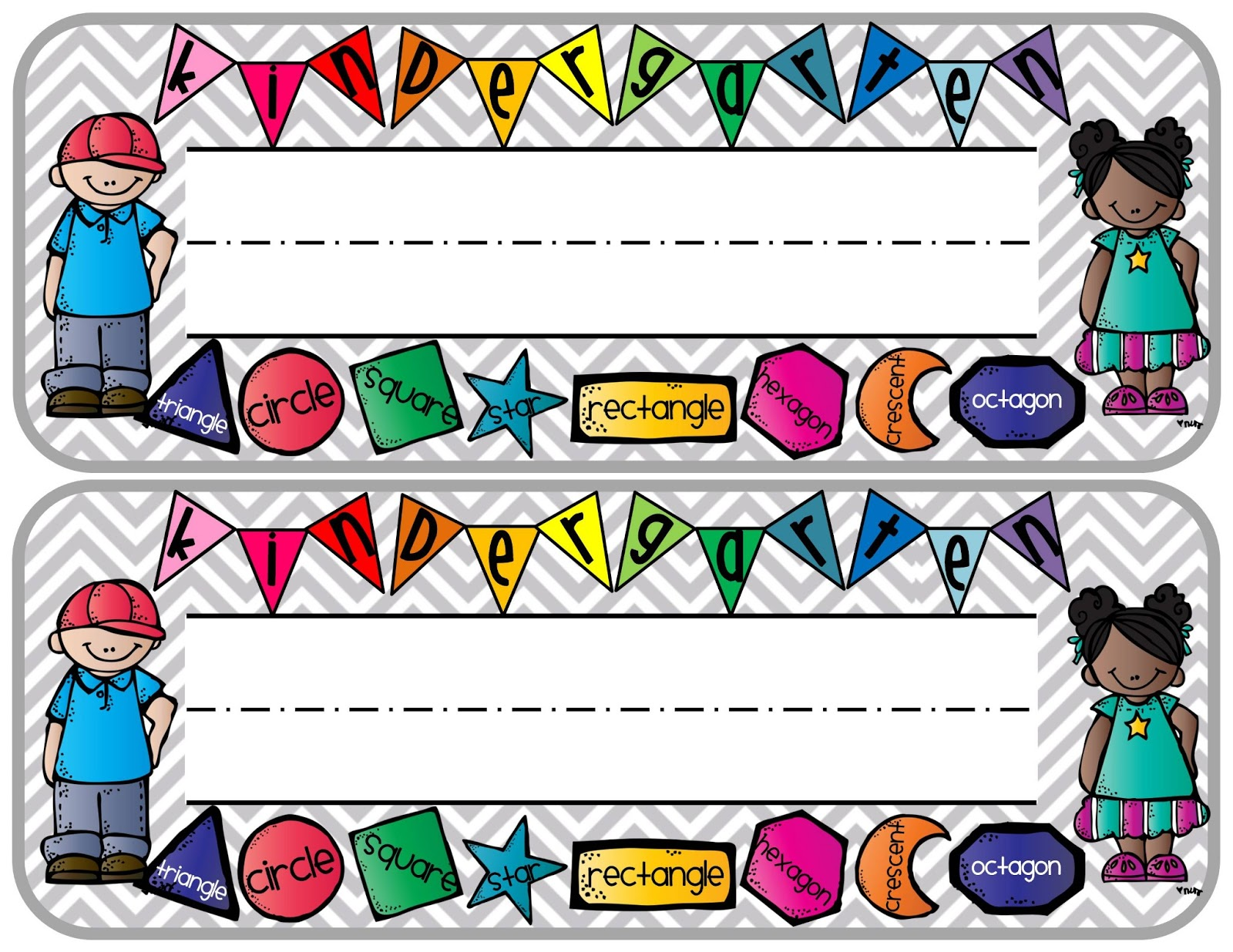 Elementary organization april 2013 for Preschool name tag templates
