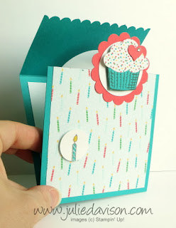 VIDEO Tutorial for Stampin' Up! Sprinkles of Life Flap Fold Card #stampinup www.juliedavison.com