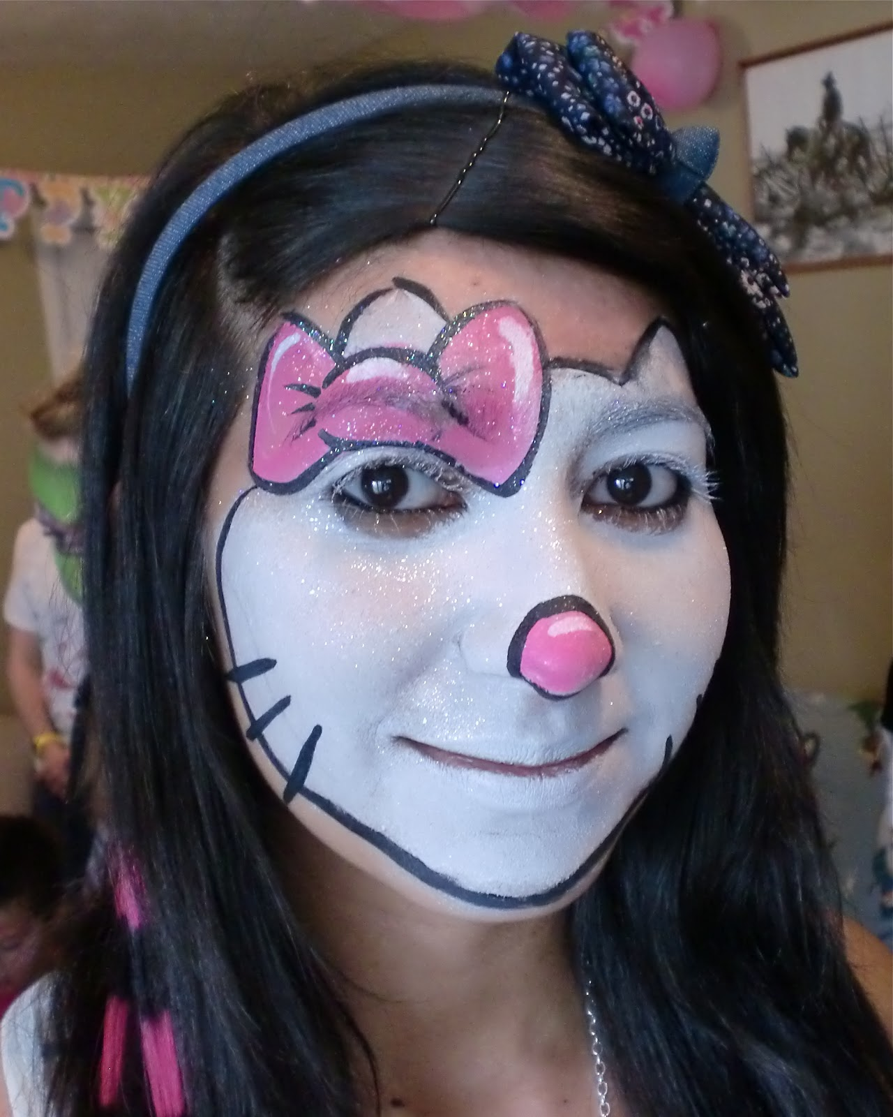 Face painting illusions and balloon art llc face painting hello face painting hello kitty full face baditri Images
