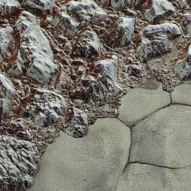 Pluto's Close-up in Color