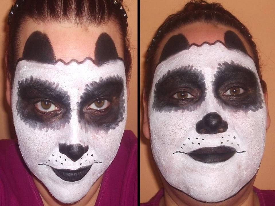 Aquí tenéis otro maquillaje para niñ@s, incluso muy pequeños. Es un Oso Panda, ideal para el cole.Como vestimenta os propongo que hagáis una mezcla de