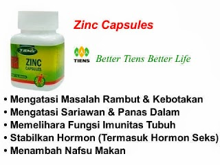 ZINC CAPSULES (PENYEIMBANG)