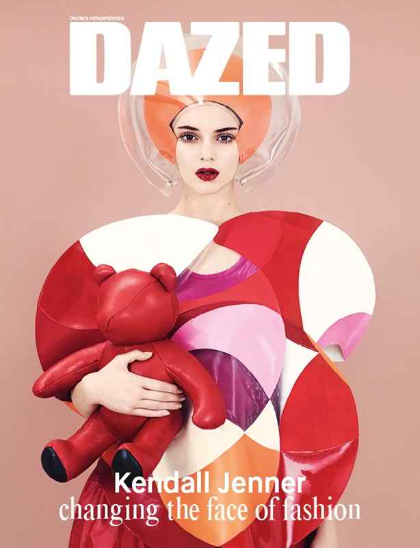 Kendall Jenner goes artsy for the Dazed and Confused covers