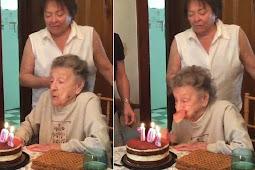 Tiup Lilin Ulang Tahun, Gigi Nenek Ini Langsung Hilang
