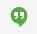 burbuja de conversación con dos comillas blancas adentro