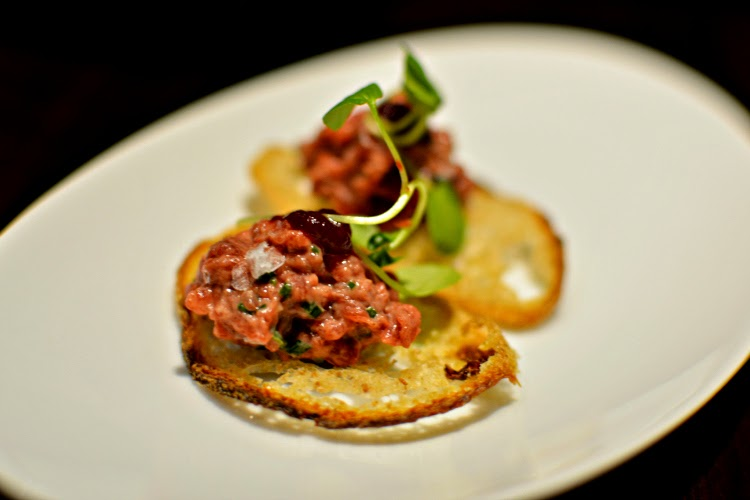 Fenchurch Seafood and Grill venison tartare