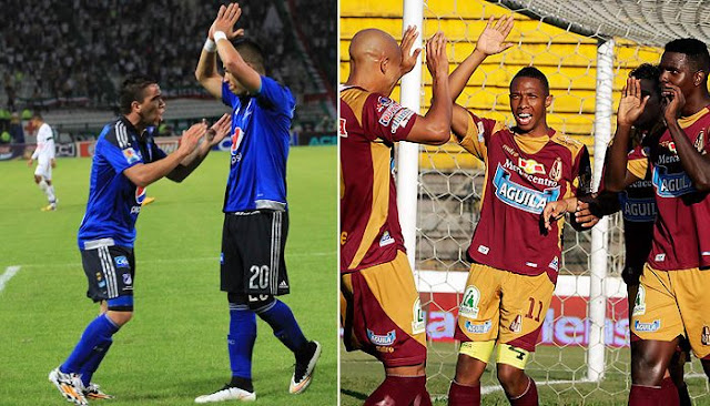 Ver partido Millonarios vs Deportes Tolima en vivo