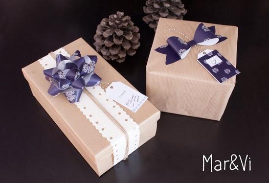 Regalo navideño: Set para envolver regalos