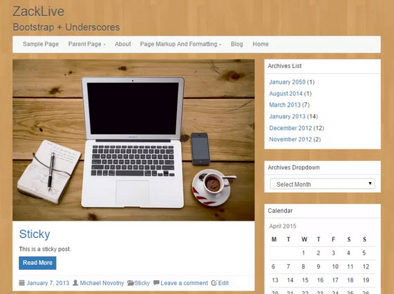 LineDay Wordpress theme