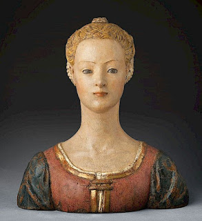Bust of a Young Woman by the Renaissance master Antonio del Pollaiolo
