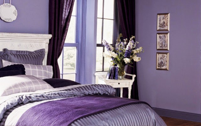Amethyst orchid purple violet bedroom wall color
