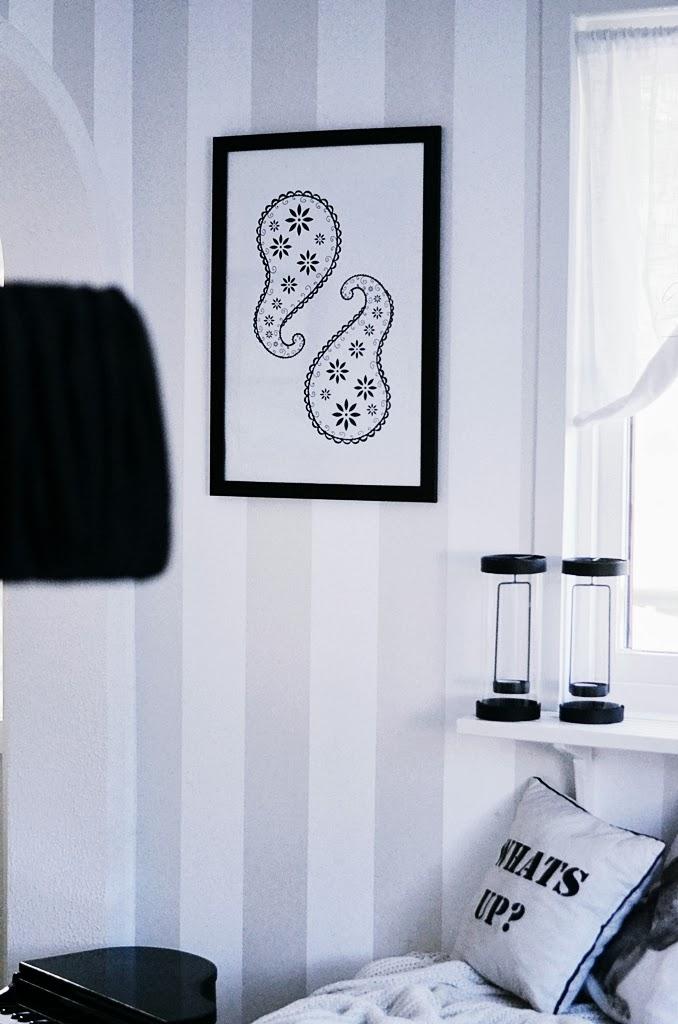 art print, grafisk tavla, paisley, art, konst, design, illustration, interior