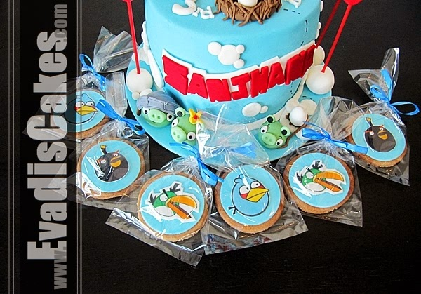 Cookies for Angry Bird cake theme