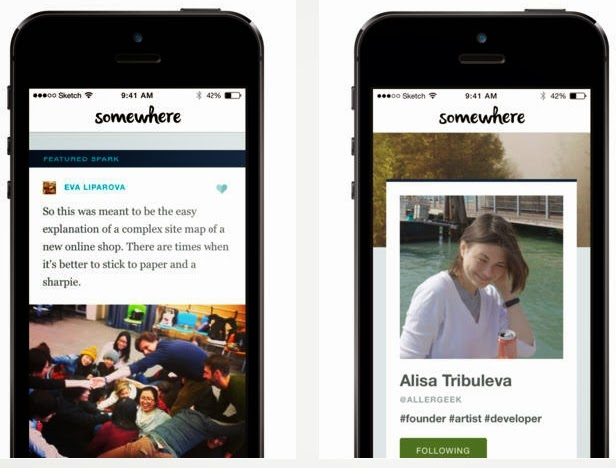 Somewhere app, professional social network, Share Professional life, through images, Somewhere, free apps, social media, German company, Somewhere app for iOS,