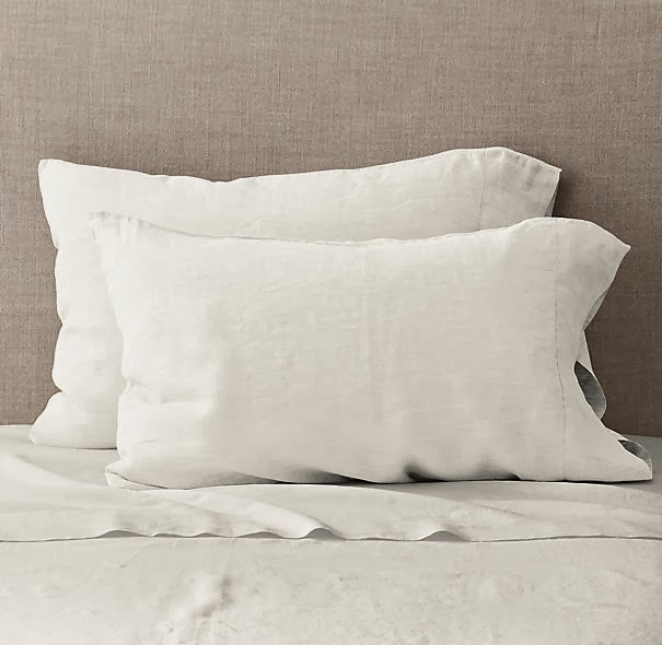 Restoration Hardware: Vintage Washed Belgian Linen in White