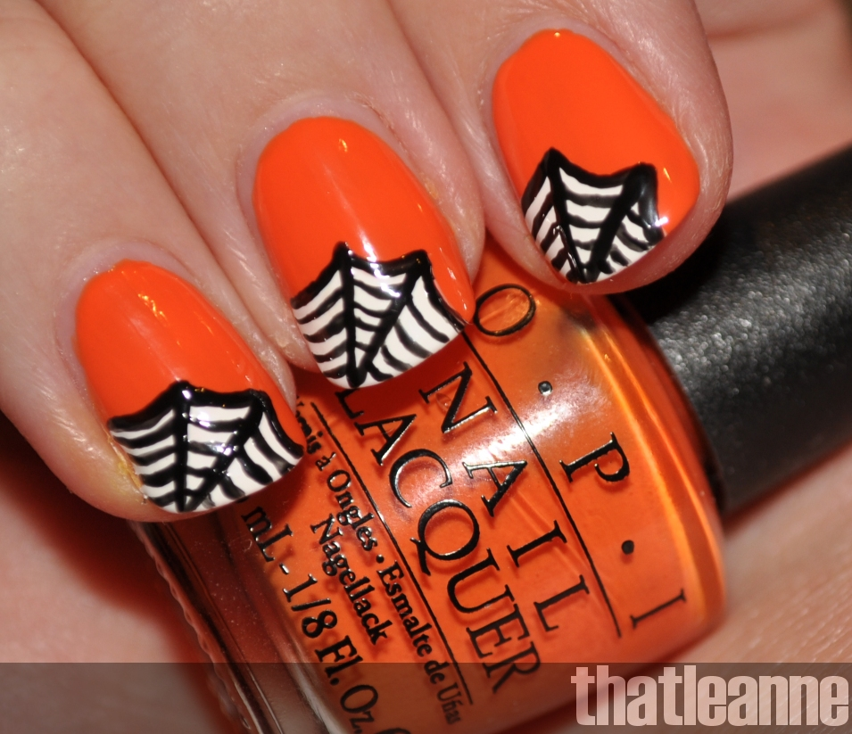 Halloween Nail Art: Thatleanne: OPI Vintage Glow In The Dark Halloween And