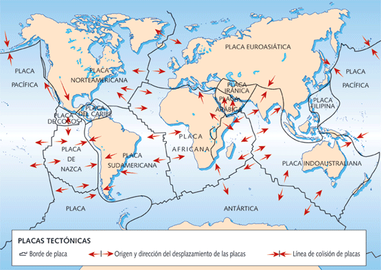 Resultado de imagen para tectonicas de placas activas
