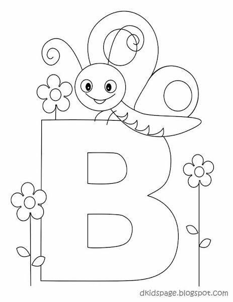 Preschool Worksheets Letter B Is for Butterfly