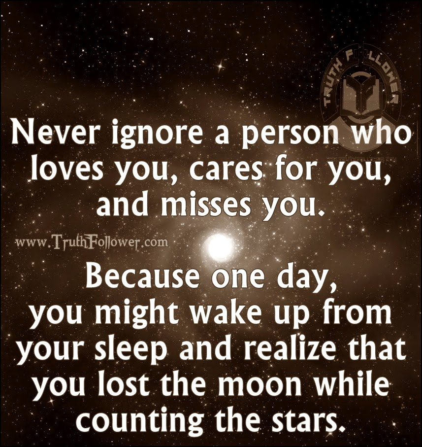 Never ignore a person Quotes