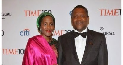 Family photo of the economist, married to , famous for Chairman & CEO of Dangote Group.