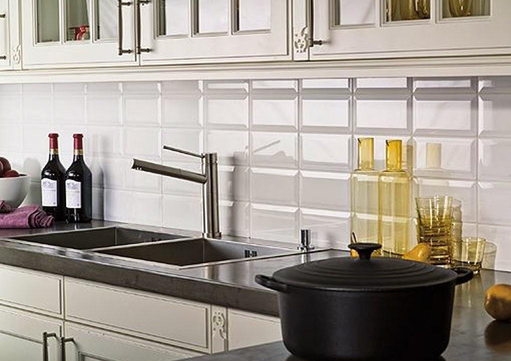 Decotips c mo usar ladrillo tipo metro en cocinas y - Azulejos blancos ...