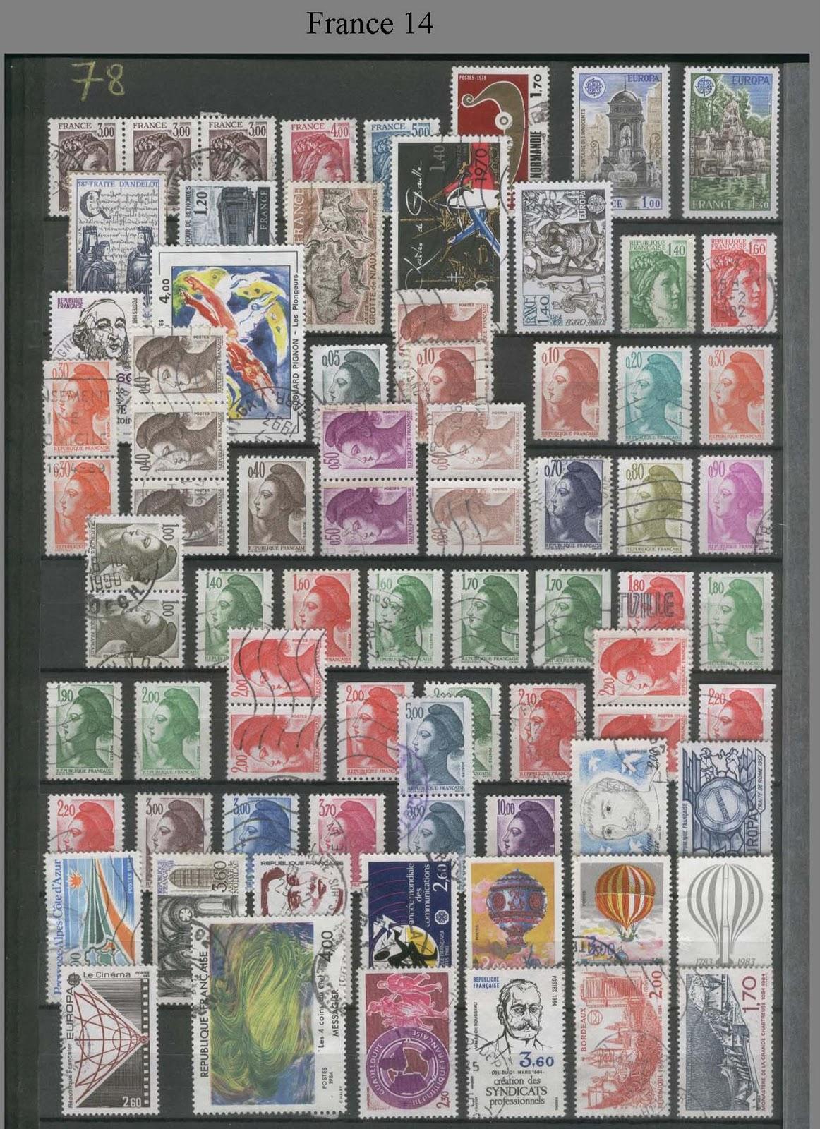 ma collection et plus encore ma collection de timbres poste france. Black Bedroom Furniture Sets. Home Design Ideas