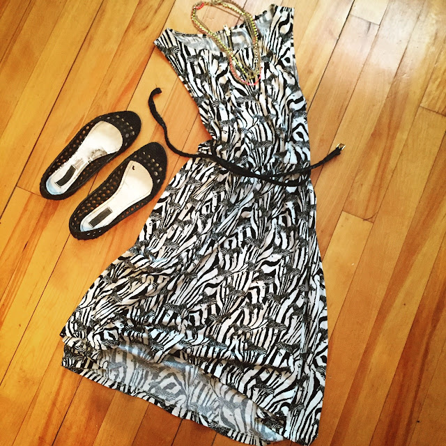Zebra print dress for the summer