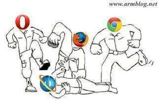 Funny Browsers Fight