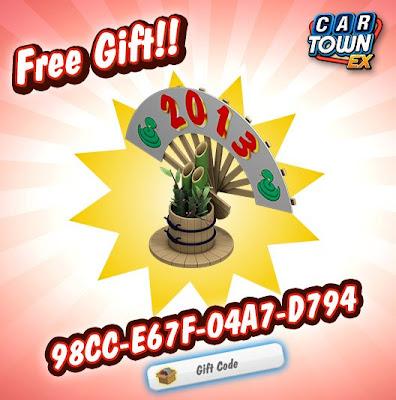 Car Town EX Free Gift Decoracion de año nuevo