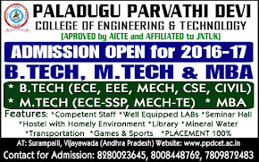 MBA, B.TECH & M.TECH ADMISSION 2016-17