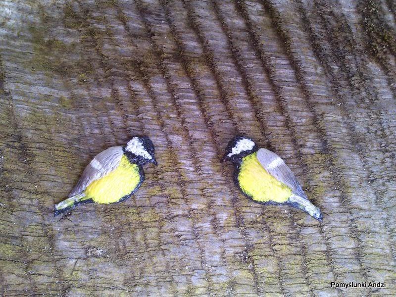 ptaki, birds, sikorki, kolczyki, earrings,