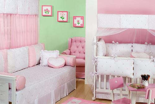 Quarto de bebê rosa, esse é para menina USANDO MODA ~ Quarto Rosa Moderno