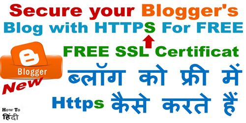 Get SSL Certificate for Blogger