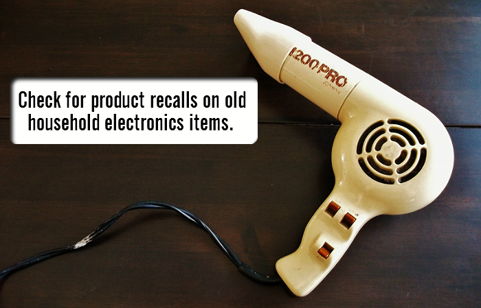 Products made in the 1970s, or prior, can have active recalls for asbestos. Consult an online database today for more info.