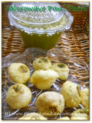 recipe of making pani poori indian street food in microwave