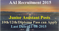AAI RECRUITMENT 2015