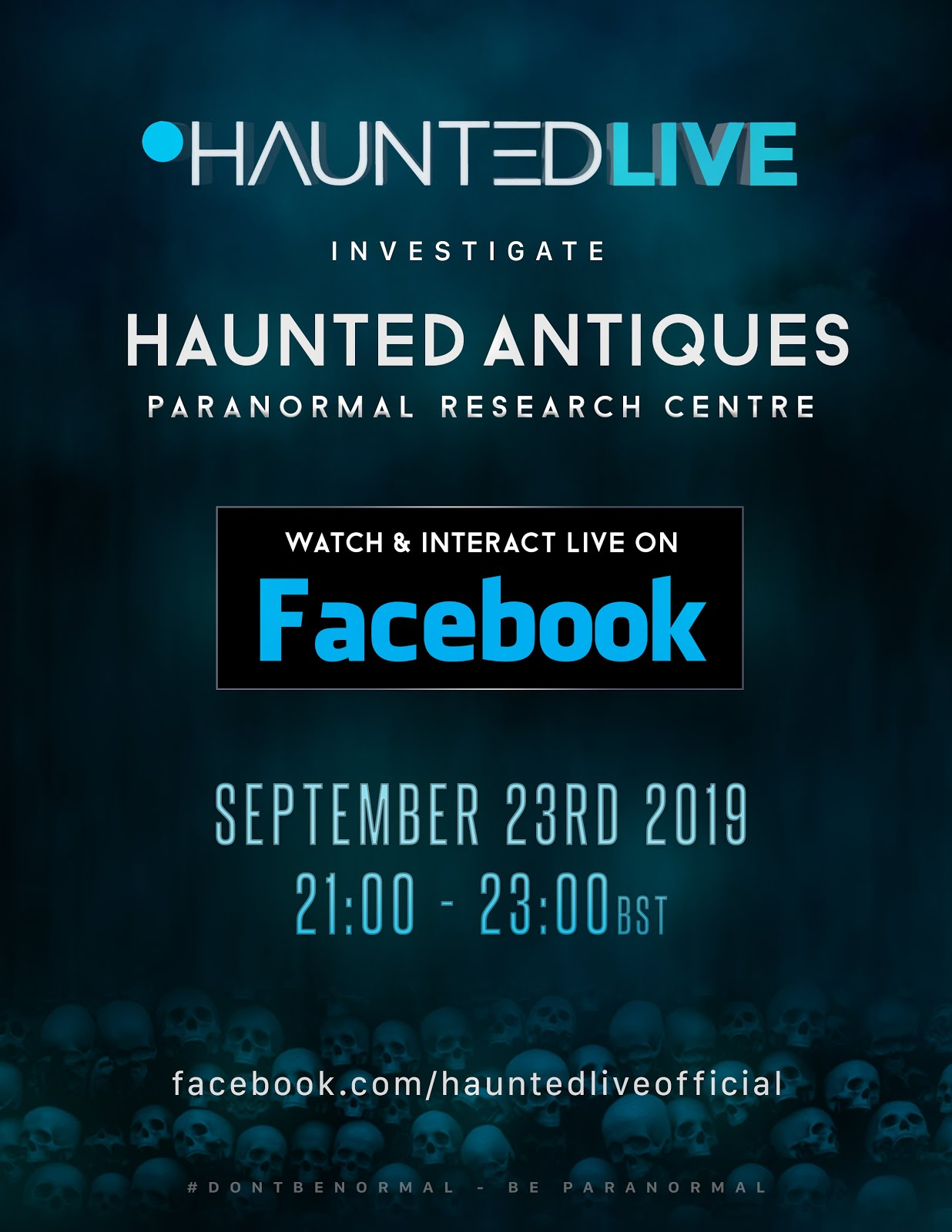 NEXT FACEBOOK LIVE EVENT:
