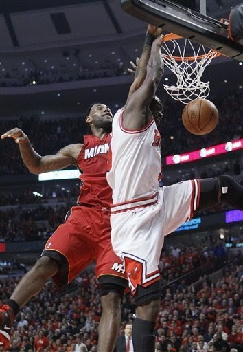 You Got Dunked On: 2011 NBA Playoffs: Luol Deng Dunks On LeBron James (Eastern Conference Finals ...