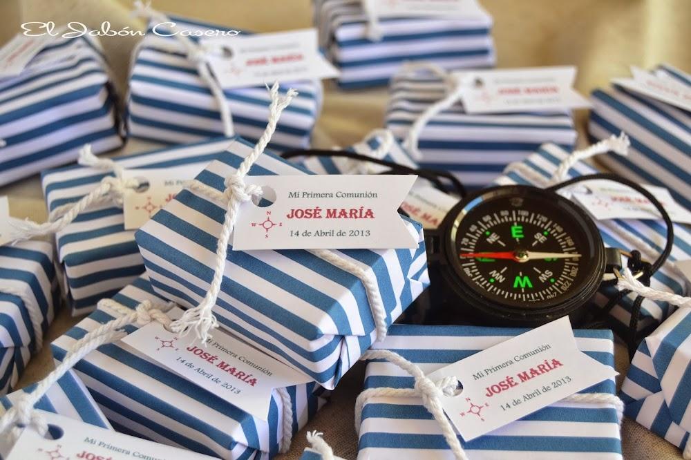Jabones marineros detalles de primera comunion
