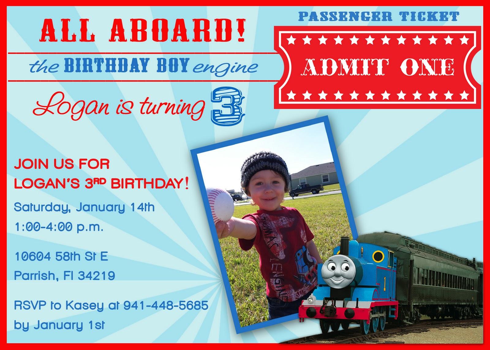 40th Birthday Ideas: Free Thomas And Friends Birthday Invitation ...