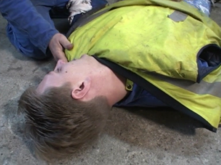 victime inconsciente