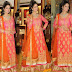 Model in Orange Long Salwar