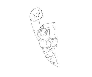 #1 Astro Boy Coloring Page