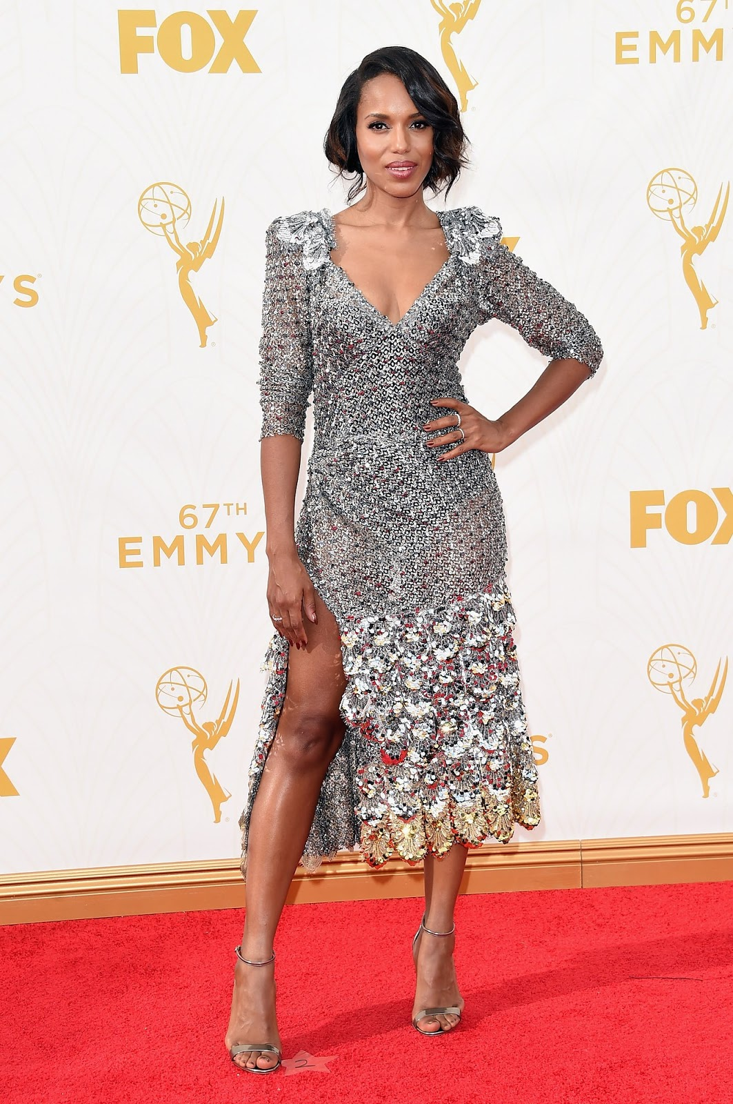 WHO WORE WHATEmmy Awards 2015 Kerry Washington In