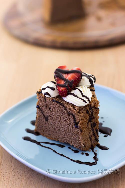 Chocolate Chiffon Cake01