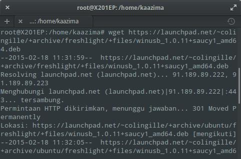 Instal WinUSB di Elementary / Ubuntu : Download WinUSB