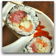 Homemade Chia Sesame Sushi