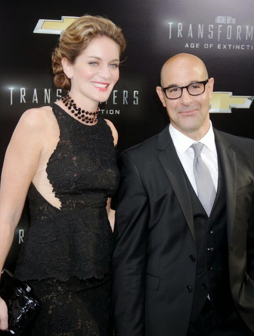 "The first child with Felicity ""Hunger Games"" -Showmaster Stanley Tucci is Papa!"